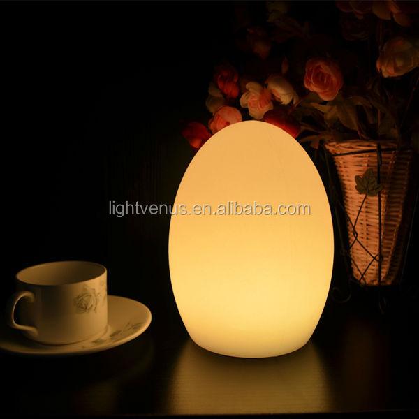 Egg Shaped Table decorative acrylic rangoli designs egg shape led lighting table