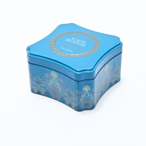 Round Candle Tin Box Tin Tube with Ribbon and Lids