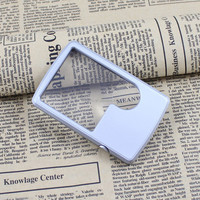 Pocket Ultra-thin Credit Card Reading Magnifier 3X/6X LED Light Magnifying