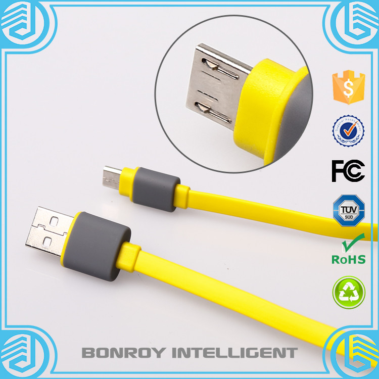 High quality colorful Flat Noodle Data Charger Magnetic USB Cable For Cell Phone