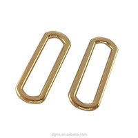 fashion shiny sgold rectangle shape round corner metal ring for bag
