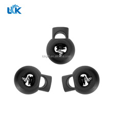 Black Plastic Toggles Spring Stop Drawstring Rope Cord Locks For Cord Fabric Wristbands Clasp Fastener