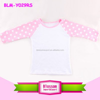 "Factory wholesale 18"" inch doll clothes raglan shirts customized american girl doll clothes"