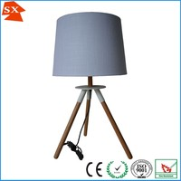 Modern fabric lampshade for wood table lamp