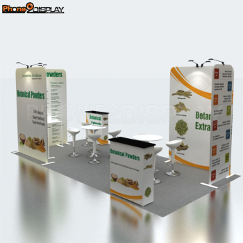 Top quality customized trade show display 10*10 portable aluminum photo exhibition booth