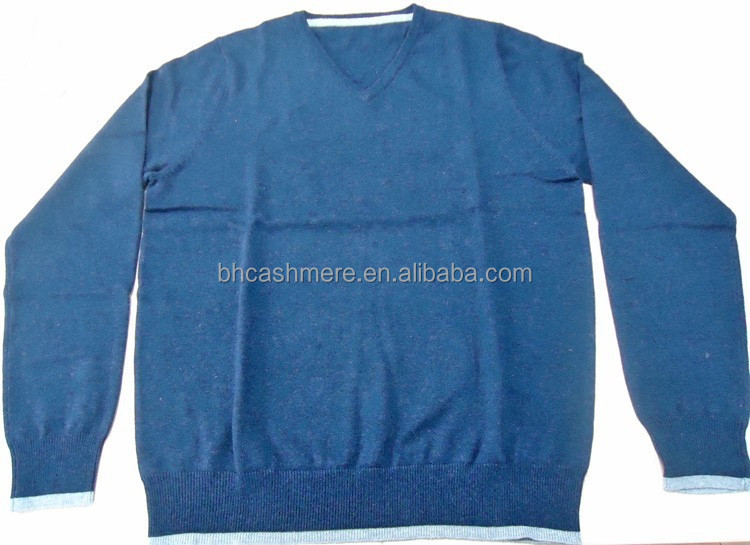 Boys sweater design fashion V neck pullover pima cotton cashmere sweater