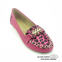 leopard design sexy flat snakeskin pattern upper shoes custom made shoes for women