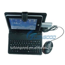 Leather Case With USB Keyboard for ePad / for aPad / for iRobot Tablet 7""