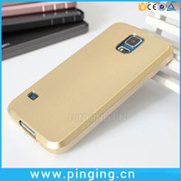 Cell Phone Case Wholesale Metallic Paint Soft TPU For Samsung Galaxy S5 Gold Case