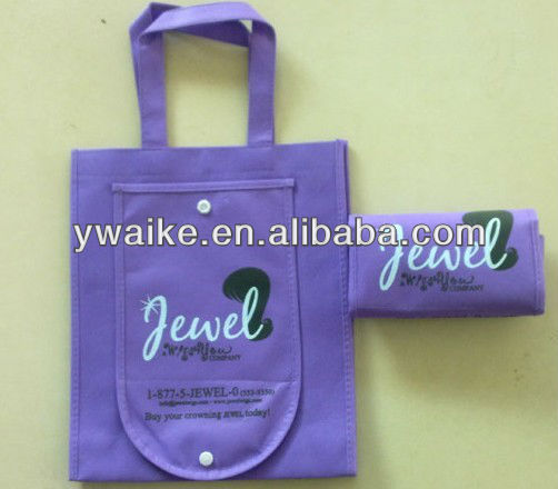 promotional cheap advertise folding shopping bag/non woven bag