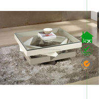 CT-3017 square glass coffee table made in china