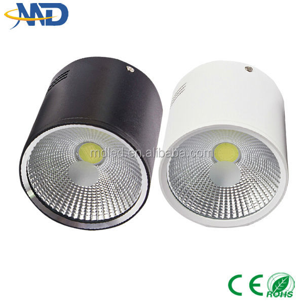 12W COB led downlight 90-277V 3 years warranty Surface Mounted frosted glass dimmable led down light