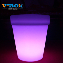 modern design led flower pot party wedding decor lighted flower pot outdoor plastic illuminate furniture