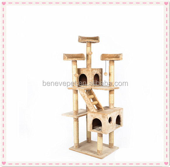 2016 NEW Cat Tree Condo Cat Furniture House Beige Color