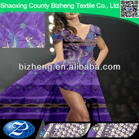 Ready polyester george fabric purple and white wedding dresses