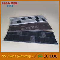 Metal roofing sheets prices Wanael Chinese Sand coated Roof Tiles, Red Asphalt Roof Shingles
