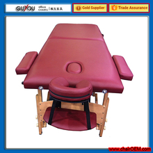 Hot Sale Wooden Massage Table With Luxurious Leather