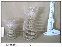 Hand Blown Sponge Glass champagne gold glitter Angel