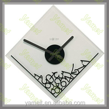 Customized Glass shadow wall clock