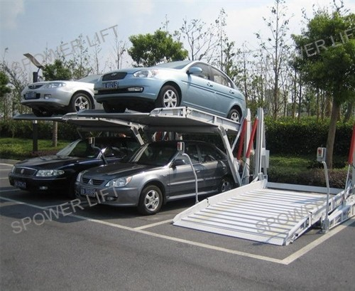 Two level 2 Post parking system/ hydraulic underground car park lift price