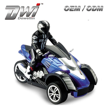 electronic 3wheels motorcycle DWI 54G 1:10 Scale 2.4G Gravity sensor drift Radio Control mini chopper motorcycle With Lights