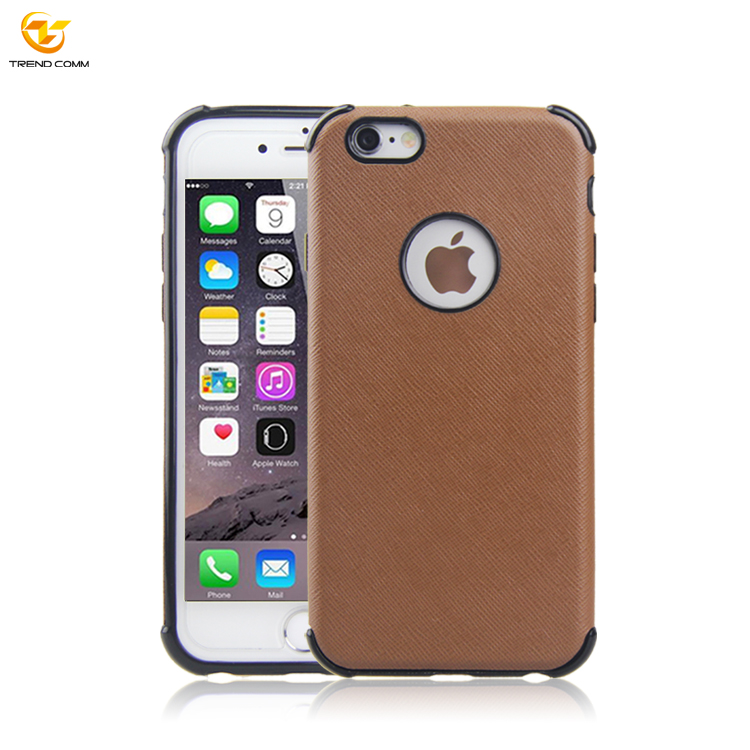 Soft Tpu Pu Leather Sticker Back Cover Case For Iphone 6 Plus