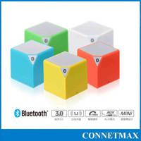 Cube portable wireless bluetooth mini speaker with Line in, small water cube type shape with LED light indicator