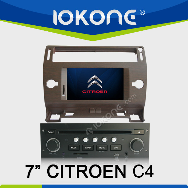 "2005-2009 factory 7"" HD Touch screen citroen c4 car dvd player with gps navigation and bluetooth TMC, camera, mic, dvb-t"