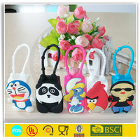 silicone perfume hand sanitizer holder /silicone bottle covers/ animal hot water bottle cover