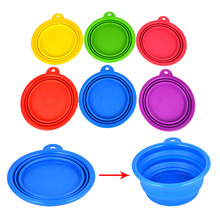 Collapsible Pet Dog Folding Silicone Bowl Travel Feeder Dish