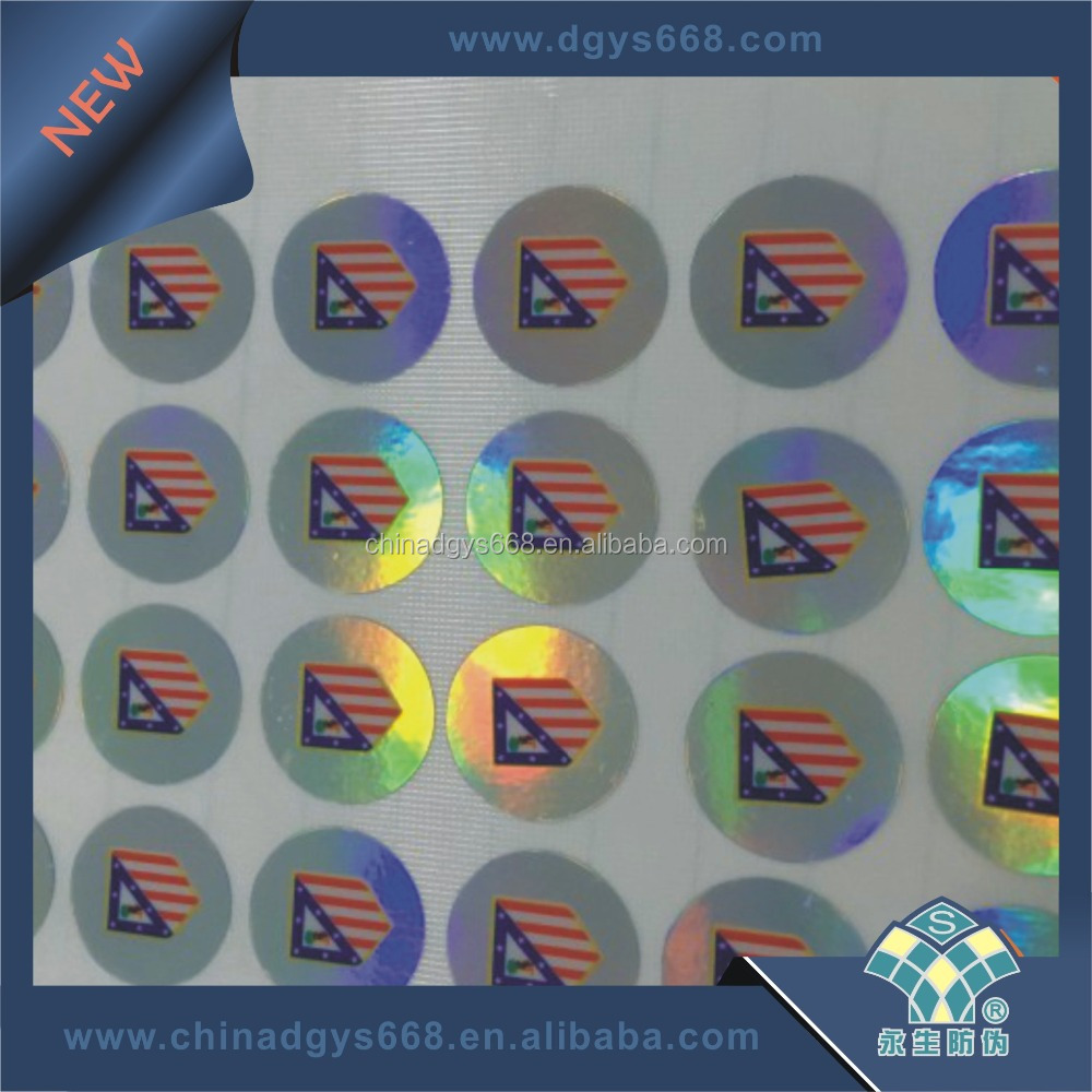 3D grating printing hot stamping hologram on PVC card