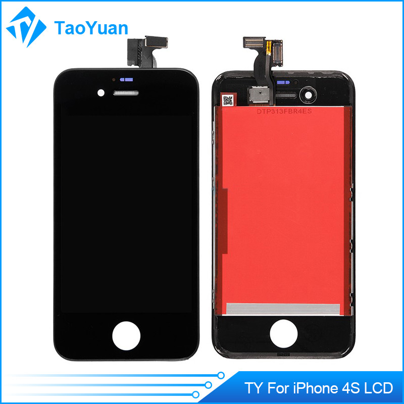 Red Color Mobile Phone For iPhone 4S LCD Touch Screen with Middle Plate and back cover full set