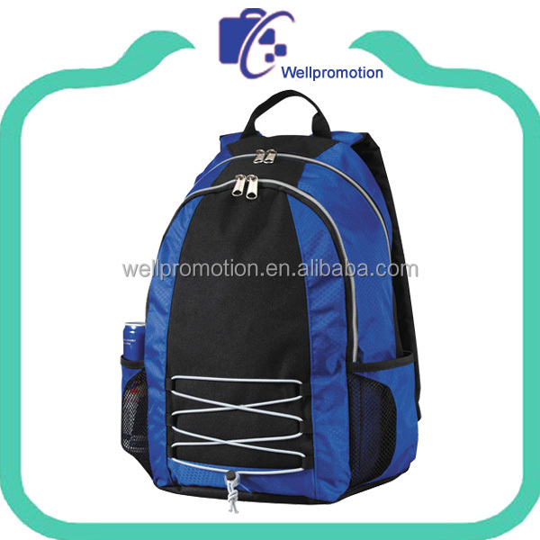 Fashion design ballistic nylon back school bag with backpack handles
