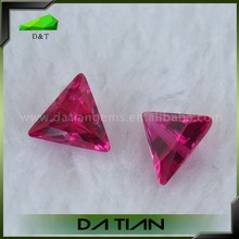 High Quality Polished Triangle Sharp Corner 5# Red Ruby loose Gemstone