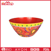High grade good quality solid color beautiful design plastic salad melamine bowl