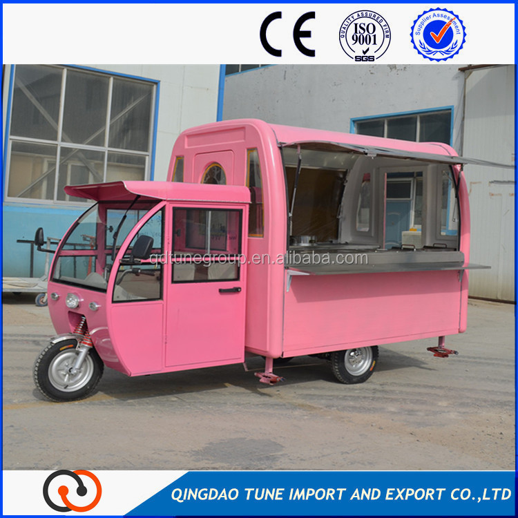 mobile fast food truck and Motorcycle Food Cart
