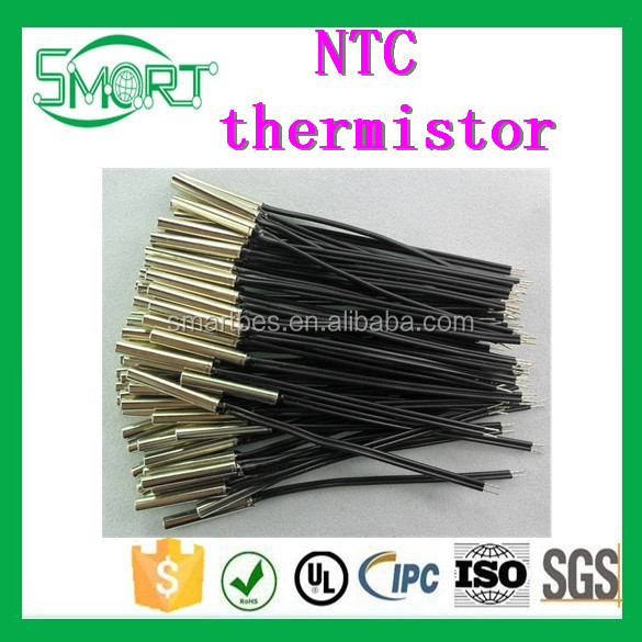 Smart Bes NTC temperature sensor thermistor ntc 10k Cylindrical probe 3*20MM 10K 1% 3950 total length 60mm 28#