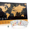 Travel Inspired Scratch Wanderlust Poster Map