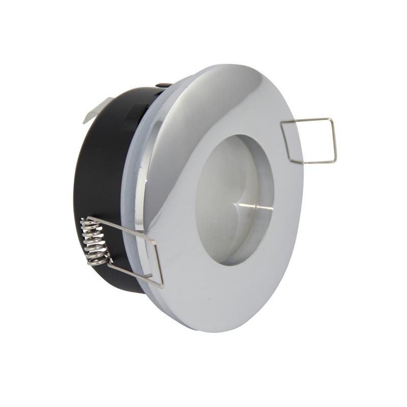 LED GU10 Recessed Ceiling Spotlight Downlight Brushed White Polished Chrome Finish Fitting IP65