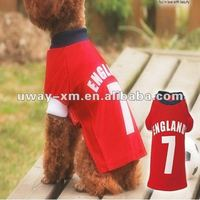 Newest designer pet football jersey for dogs