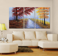 Natural scenery oil tree paintings canvas