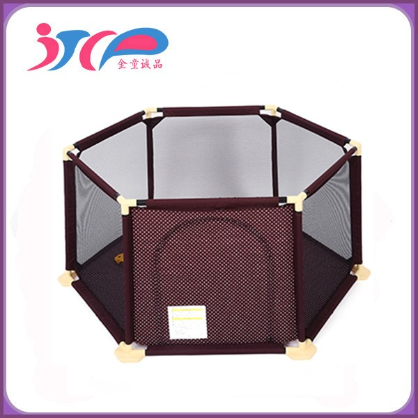 6 sides baby playpen baby portable playyard, easy foldable playpen