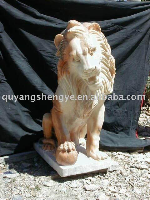 Chinese garden lion stone carving statues