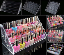wholesale acrylic wall mounted nail polish acrylic display stand
