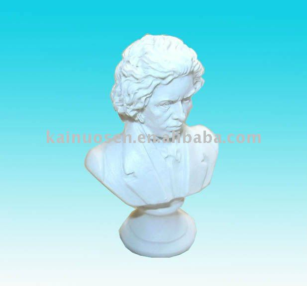 Decorative White resin bust/Beethoven for decoration