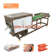 automatic fish meat slicer cutter/hairtail slicing cutting machine/tuna fish processing machine