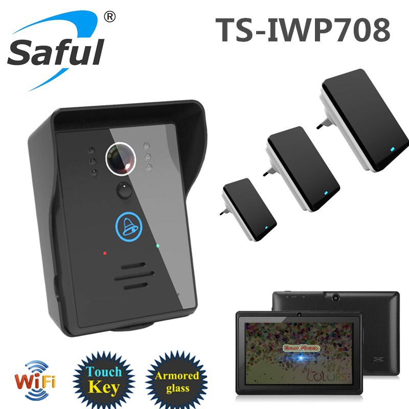 Saful 2 MP 140 degree smart doorbell wireless door camera WiFi video door bell
