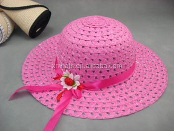 Newest Best Selling paper braid straw hats with lace band