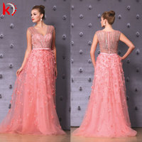 Gorgeous Handmade Beading 2015 Evening Gown Plus Size Evening Dress Online Shopping