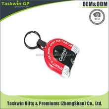 promotional customer design printed logo soft pvc led light rubber keychain